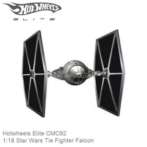 Modelauto 1:18 Star Wars Tie Fighter Falcon (Hotwheels Elite CMC92)